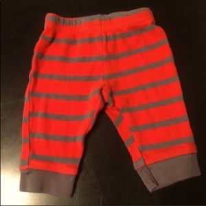 Child of Mine Red & Gray Striped Pants